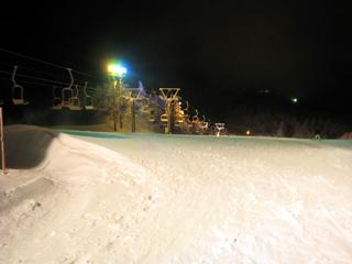 蔵王スキー1日目 ナイター