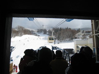 蔵王スキー1日目 中央ロープウェイ