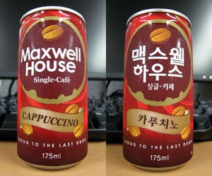 【韓国】Maxwell House Single-Cafe CAPPUCCINO
