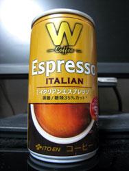 伊藤園 W・Coffee イタリアンエスプレッソ 微糖 - ITOEN Espresso ITALIAN