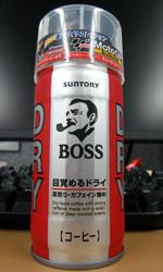 【缶コーヒーレビュー】 ボス 「DRY」 目覚めるドライ -  SUNTORY BOSS