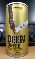 【缶コーヒーレビュー】 ネスコ DEEN COFFEE 深煎り - nesco