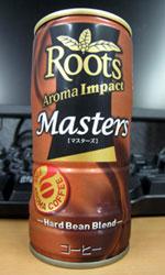 【缶コーヒーレビュー】 JT ルーツ 「マスターズ」 - Roots Aroma Impact Masters