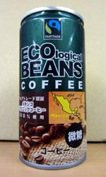 【缶コーヒーレビュー】 トーヨービバレッジ 『ECO logical BEANS COFFEE』 - フェアトレードコーヒー メキシコ