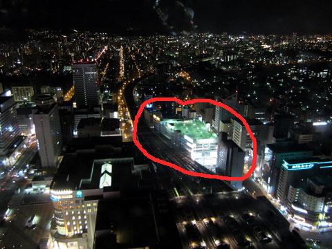 ヨドバシカメラ 札幌 JRタワーの展望台から2