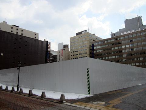 札幌ヨドバシ移転予定地。西武札幌店跡。