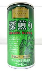 【缶コーヒーレビュー】 ジェイフード 『深煎り BRAZIL BLEND』